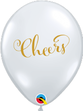 Simply Cheers Balloons (Clear) - 11 Inch Balloons 25pcs
